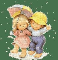 Kinder, Regen, Schirm