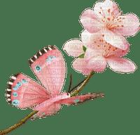 pink-butterfly and flower--fjäril-blomma-rosa-minou52