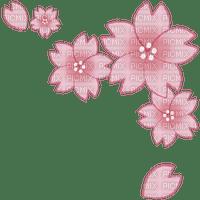Coin corner sakura fleur rose pink flower