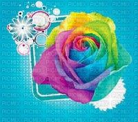 image encre bon anniversaire color effet fleur  edited by me