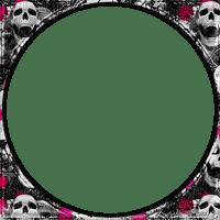 soave frame circle gothic halloween skull flowers