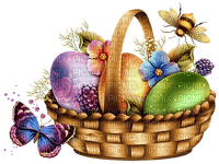 Kaz_Creations Deco Easter Eggs Basket Butterfly