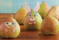 poires décorées de pâques