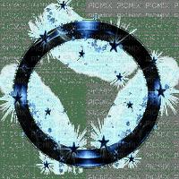 blue circle frame fantasy bleu cercle cadre fantaisie