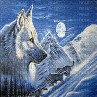 wolf painting bg transparent loup hiver fond