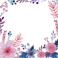 spring watercolor flowers frame