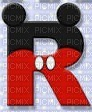 image encre lettre R Mickey Disney edited by me