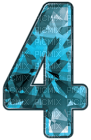 Kaz_Creations Numbers Blue Crystal 4