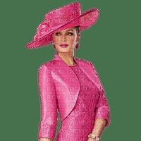 woman with hat-pink- minou52