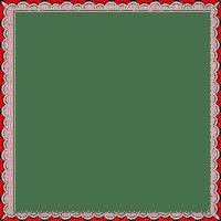 red transparent frame cadre rouge