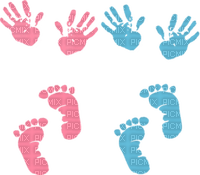 Kaz_Creations Baby Deco Foot and Hand Prints