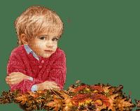 child boy autumn leaves enfant automne feuilles