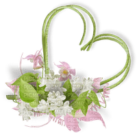 vert coeur fleur deco green heart deco flowers
