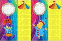 image encre couleur effet cadre bon anniversaire cirque carnaval pierrot dessin edited by me