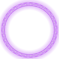 purple lights circle frame glowing christmas