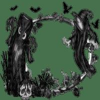 halloween deco goth frame cadre