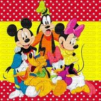 image encre couleur anniversaire effet à pois Minnie Mickey  Disney dessin  edited by me