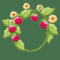 Kaz_Creations Circle Frame Deco  Strawberry Shortcake