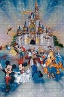 multicolore image encre château fête bon anniversaire couleur blanc rose  effet  Mickey Minnie Disney mariage edited by me