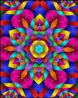 multicolore art image rose bleu jaune effet kaléidoscope kaleidoscope multicolored color