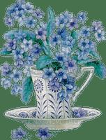 cup tasse deco tube flower fleur blossom bloom blüte fleurs blumen spring vintage blue bleu