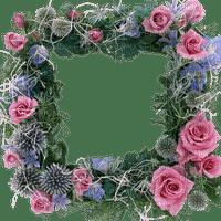 pink roses frame Rose cadre