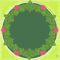 circle flower frame