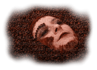 woman femme frau face visage tube coffee cafe kaffee beans