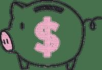 Tirelire cochon piggy bank pièces coins $