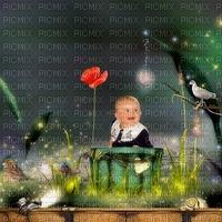 image encre couleur effet paysage texture enfant fleurs oiseau anniversaire edited by me