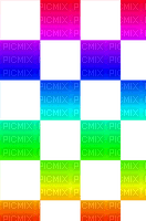 Rainbow checkers overlay