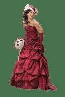 femme en belle robe rouge
