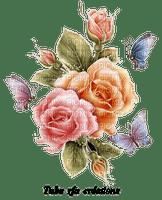 rfa créations - bouquet de roses et papillons