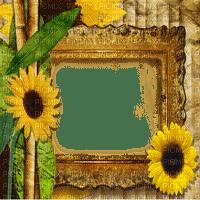 sunflower frame cadre tournesol
