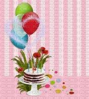 image encre gâteau pâtisserie bon anniversaire fleurs ballons edited by me