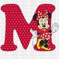 image encre mot lettre M Minnie Disney edited by me