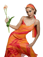 Kaz_Creations Woman Femme Orange Flower