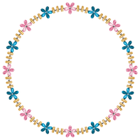 Kaz_Creations Deco Flower Circle Frames Frame Colours