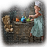 baby girl teaparty bebe fille goûter