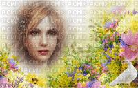 Fleurs collombe et visage
