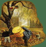 child in autumn  enfant automne
