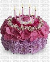 image encre gâteau pâtisserie fleurs bon anniversaire edited by me