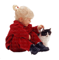 child cat enfant chat