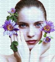 image encre femme fleurs edited by me