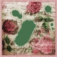 frame cadre rahmen tube spring vintage rose flower fleur pink overlay fond background