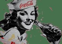 vintage coca cola  woman femme