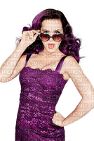 Kaz_Creations Woman Femme Purple Katy Perry Music Singer Glasses