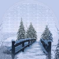 paysage d'hiver pont