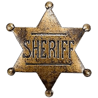cowboy western sheriff text star
