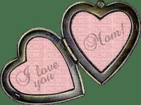 Kaz_Creations Deco Scrap Hearts Love Pendant Text I Love You Mom